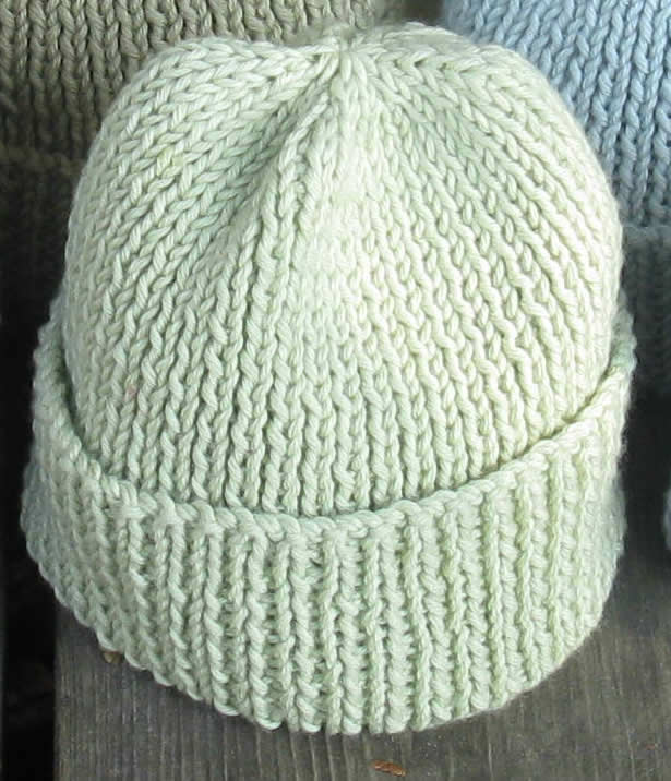 Free Knitting Pattern For Mens Ribbed Hat : free knitting patterns