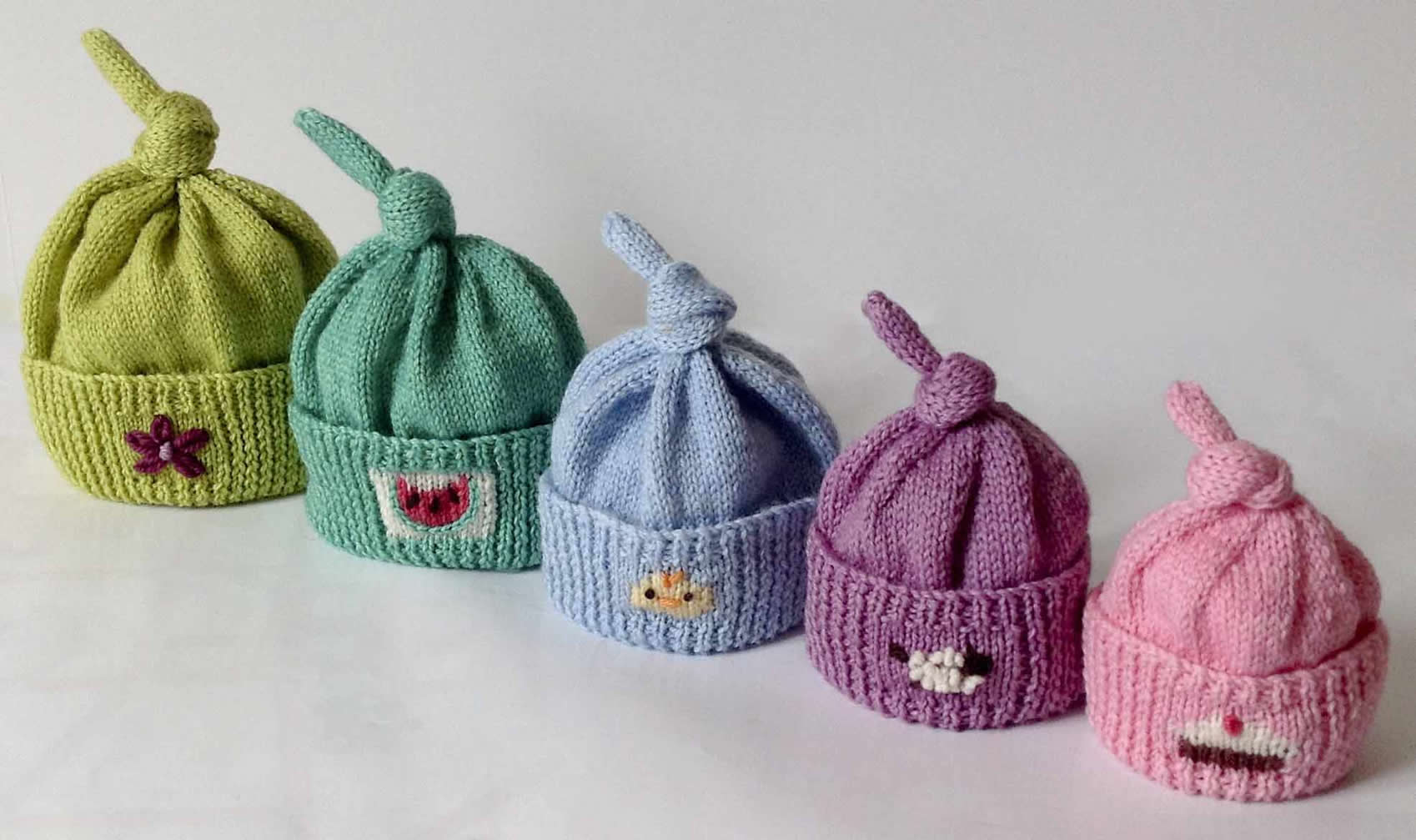 8 Preemie Knit Hat Patterns - The Funky Stitch