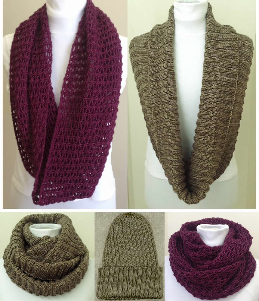 Knitting Pattern Infinity Scarf Straight Needles : free knitting patterns