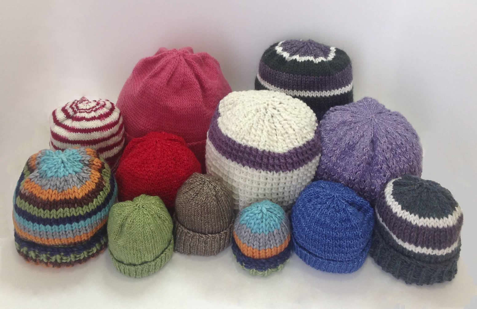 hat knitting patterns for all sizes