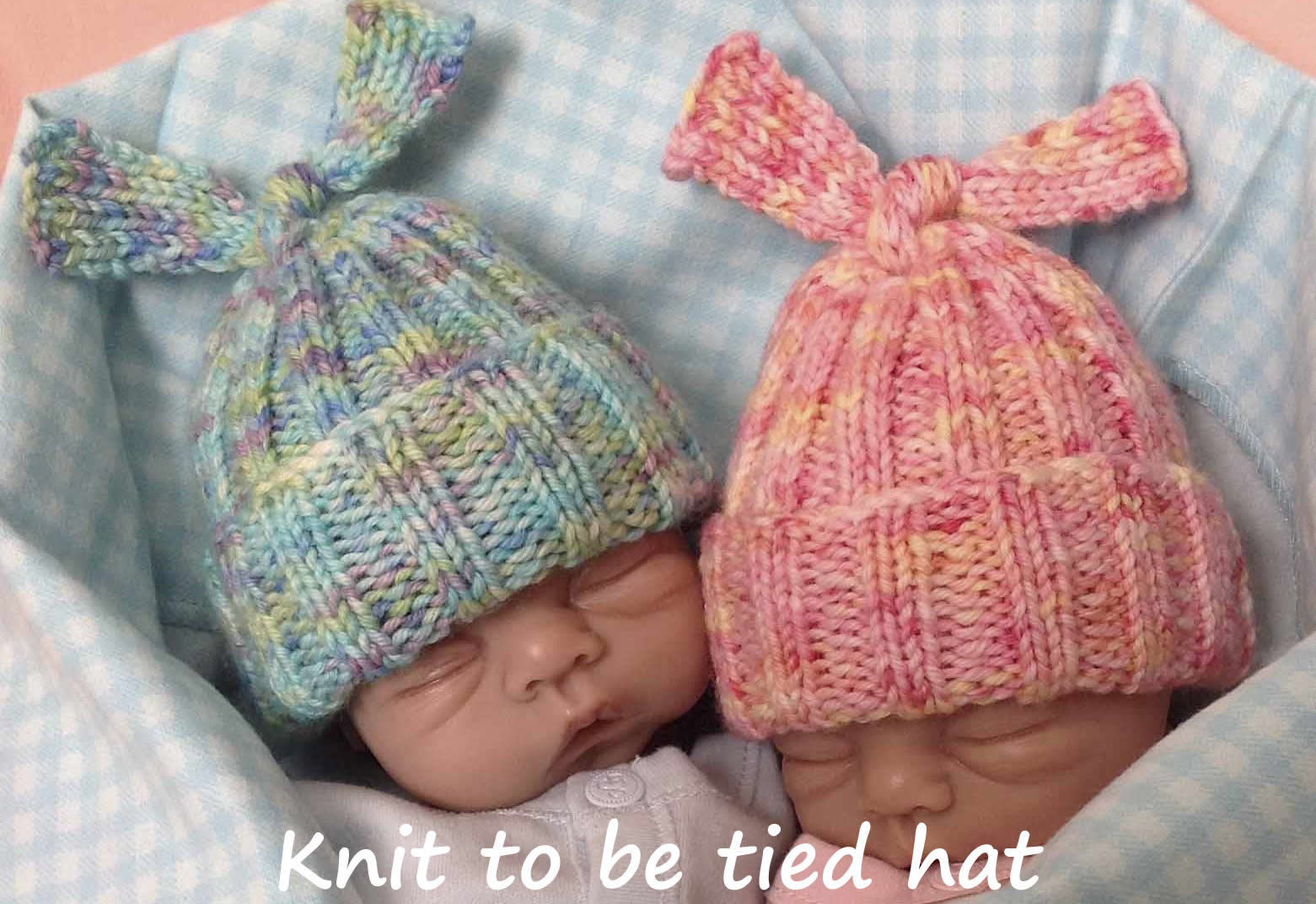 knitted ribbed hat for babies